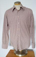 Hugo by Hugo Boss Red Label Men's Lt. Pink Geometric Pattern L/S Slim -Fit Shirt