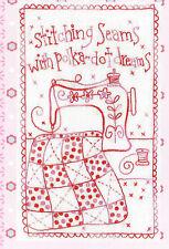 Stitching Seams -fun stitchery PATTERN - includes fabric - Rosalie Dekker