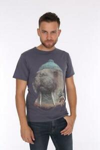 Walrus Anthracite T-Shirt Mens Graphic Design 100% Cotton S,M,L,XL