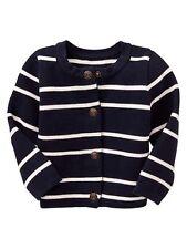 GAP Baby Girl 3-6 Months Blue / Ivory Nautical Striped Cardigan Sweater Jacket