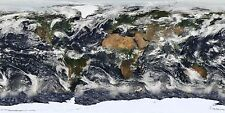 A2 SIZE THE EARTH HIGH RESOLUTION GENUINE SATELLITE PIC POSTER ARTWORK