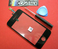 VETRO + TOUCH SCREEN APPLE IPHONE 3G A1241 per DISPLAY +ATTREZZI GIRAVITI NERO
