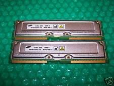 512MB SAMSUNG PC800-45 RDRAM RAMBUS RIMM Non-ECC TESTED