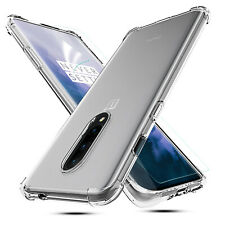 2x For OnePlus 7 Pro Shockproof 360° Clear Silicone TPU Case Cover Ultra Slim hi