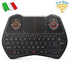 Rii Mini i28C Wireless - Mini Tastiera retroilluminata per Smart TV, TV Box, PC
