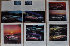 1968 Ford THUNDERBIRD advertisements x5, Hardtop & Landau T-Bird 2 & 4 door
