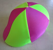 Horse Helmet Cover ALL AUSTRALIAN MADE Lime green & Hot Pink Pick your size