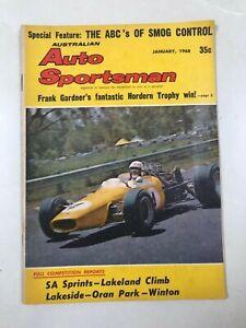 Australian Auto Sportsman January 1968 Hordern trophy,Lakeside,Oran Park,Porsche