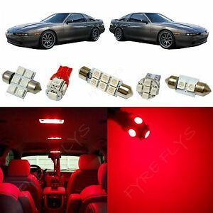 6x Red LED lights interior package kit for 1986-1992 Toyota Supra TS4R