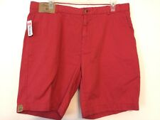 Roundtree & Yorke Casuals Mens Relaxed Fit Dusty Red Shorts Size 40 NWT