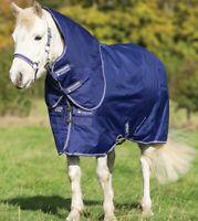 Horseware Amigo PONY Hero PLUS 900d TURNOUT Rug Mediumweight 200g Blue 3'9-5'9