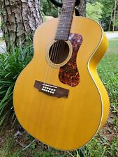 New ListingGuild F-2512E Maple 12-string Acoustic-Electric Guitar - Natural