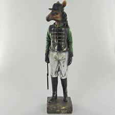 The Jockey Horse Statue Vintage Novelty Decor Steampunk Fantasy Dapper Animals