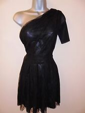 Christopher Kane Topshop Black One Shoulder Lace Mesh Evening Occasion Dress 10