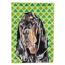 Caroline's Treasures Sc9567Gf Coonhound St Patrick's Irish Flag Garden Siz Small