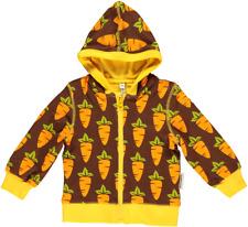 Maxomorra Cardigan Hood Baby Carrot Sweatjacke Jacke Bio Baumwolle GOTS 68 80