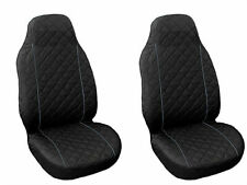 Front Seat Covers for BMW 1 , 5 , X5 , X6 series BLACK GREY PIPING