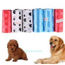6 Roll Pet Dog Cat Waste Poop Garbage Bags Degradable Pick Up Clean Refill Bag