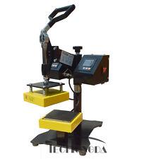 "Techtongda 5""x5"" Clamshell Style Heat Press Rosin Dual Element Transfer Machine"