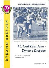 Pokal Dynamo Dresden - FC Carl Zeiss Jena 1974/75
