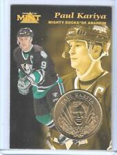 RARE 1996-97 PINNACLE MINT PAUL KARIYA GOLD PLATED COIN & CARD #5 ~ MIGHTY DUCKS
