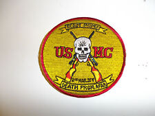 b0542 USMC Sniper Patch Death from afar Scout Sniper 2nd Mar.Div R7C