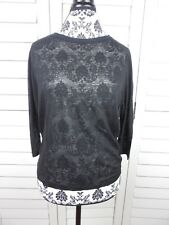 Vince. Hi-Low Blouse Womens Extra Small Black Top Lightweight Shirt Ladies XS