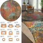 Celestial Sunset Multicolor 8 Ft. X 8 Ft. Abstract Bohemian Round Area Rug