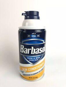 (1) Barbasol Thick & Rich Shaving Cream Skin Conditioner With Lanolin 10 Oz Rare