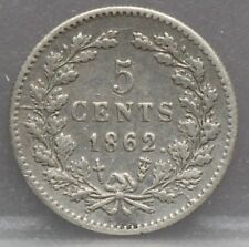 Nederland - The Netherlands stuiver 1862 - 5 cent 1862 Willem 3 Silver KM# 91