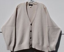 Eskandar Bergdorf Goodman BONE Heavy Weight Cashmere V-neck Cardigan O/S $2190
