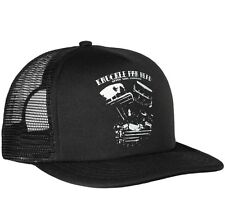 SEVEN SINS CHOPPERS MOTORCYCLE HOTROD KNUCKLE PAN HEAD TRUCKER CAP HAT BLACK