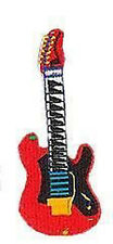 RED ELECTRIC GUITAR Embroidered Iron On PATCH Rare