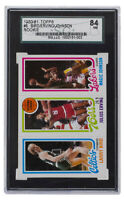 Larry Bird Julius Erving Magic Johnson 1980-81 Topps #6 Rookie Card SGC 84