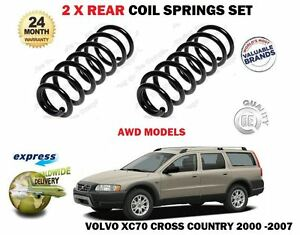FOR VOLVO XC70 2.4 T D5 2.5 T XC AWD 2000-2007 NEW 2 X REAR COIL SPRINGS SET