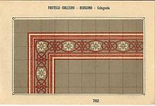 Stampa antica PAVIMENTO A MOSAICO Piastrelle Mattonelle C 702 1910 Antique print