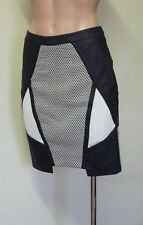 'Seduce' Geometric Monochrome Mini Skirt - Brand New!!