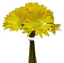 Yellow Gerbera Daisy Bouquet Wedding Arrangement Silk Bridal Flowers Centerpiece