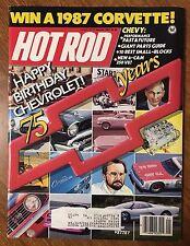 Hot Rod Magazine - January 1987 - 75 Years of Chevrolet