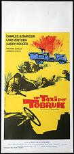 l'affiche du film UN TAXI POUR TOBROUK aznavour,ventura,kruger,DE LA PATELLIERE
