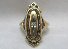 AVON GOLD FILLED LADIES RING WITH CLEAR STONE CENTER ACCENT **