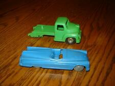 """VIntage DBGM Truck Made in Western Germany 4"""" long w/Blue plastic car Marked 5"""