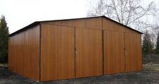 Blechgarage Garage Blechgaragen Lager Schuppe Stahlhalle 6x6x2,55 Holzdekofarbe!
