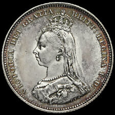 More details for 1887 queen victoria jubilee head silver shilling, a/ef