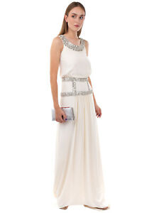 RRP €2900 TEMPERLEY BRIDAL Silk A-Line Wedding Dress Size 12 / M-L Embellished