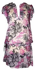 CHRISTIAN LACROIX ROBE  DRESS BAROQUE HANCHES NOUEES    T3 40 - 42