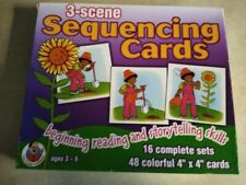 3-Scene Sequencing Cards / Vintage 1988 / by Frank Schaffer/ 16 complete sets