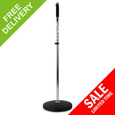 Silver Retro Heavy Duty Professional Round Base Microphone Mic Stand