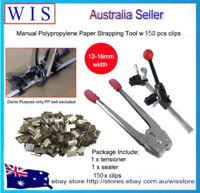 12-16mm Manual Polypropylene Paper Strapping Tool Carton Box Sealer w 150x Clips