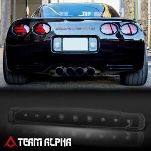 Fits 1997-2004 Chevy Corvette [Black/Smoke] LED Third 3rd Brake Light Tail Lamp